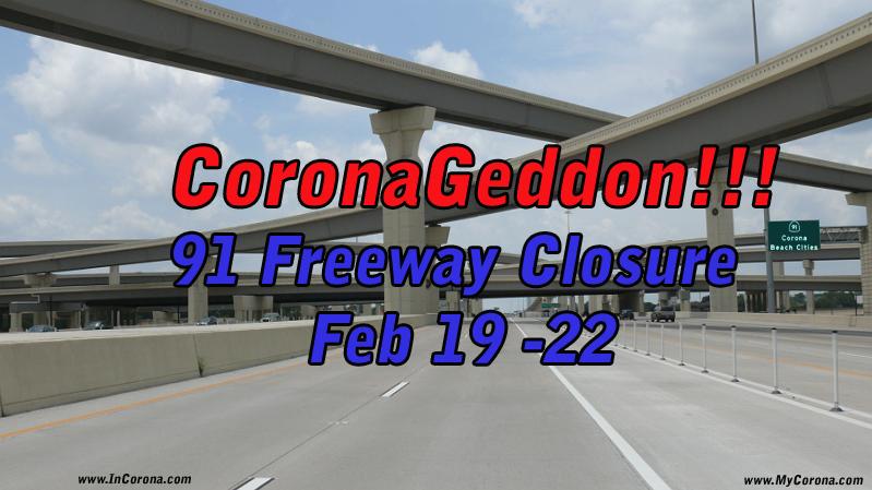 CoronaGeddon Countdown Timer to 91 Freeway Closure
